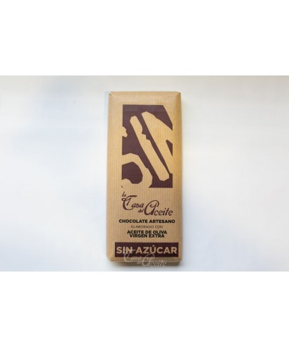 Chocolate Artesano con Aceite de Oliva SIN AZÚCAR