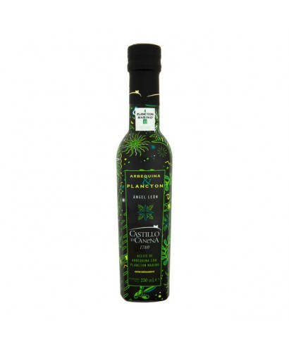 Condimento de aceite de oliva virgen extra Arbequina con plancton marino Castillo de Canena