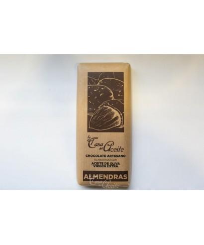 Chocolate Artesano de Aceite de Oliva con escamas de sal