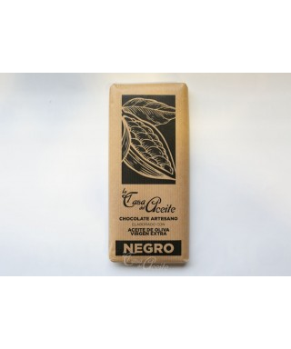 Chocolate NEGRO Artesano con Aceite de Oliva