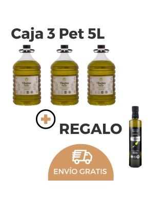 CAJA 3 Pet 5l DO Sierra Magina Picual + REGALO 2 Botellas 500ml